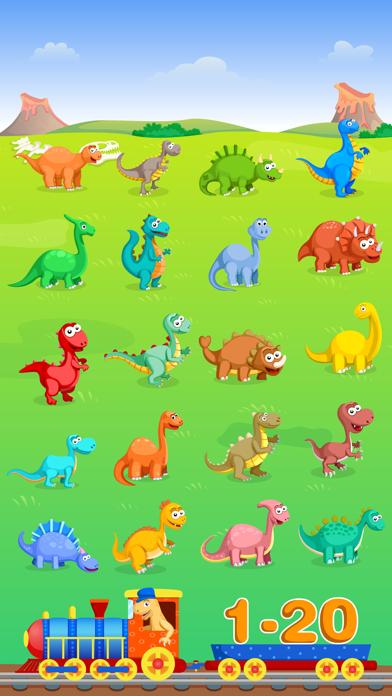 Dinosaur Number Train Game for Kids Free screenshot three