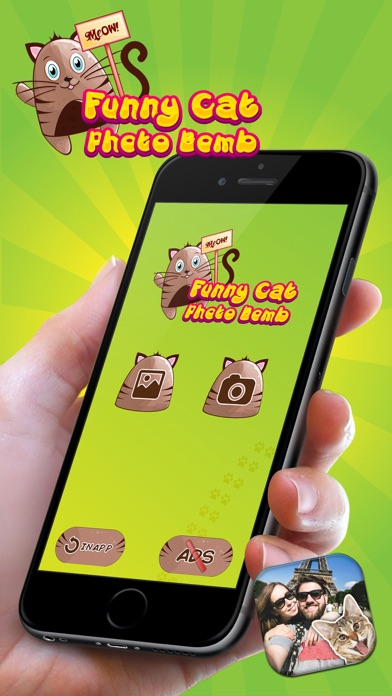 Funny Cat Photo Bomb – Make Your Pics Awesome with Cute Kitty Stamps screenshot one