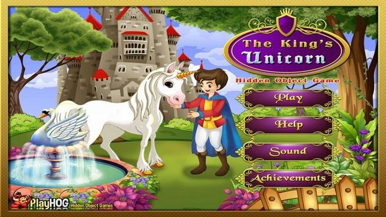 The King Unicorn Hidden Object