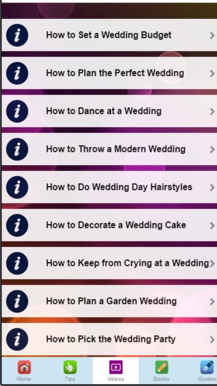 Wedding Tips - Learn to Plan Your Perfect Wedding screenshot-3