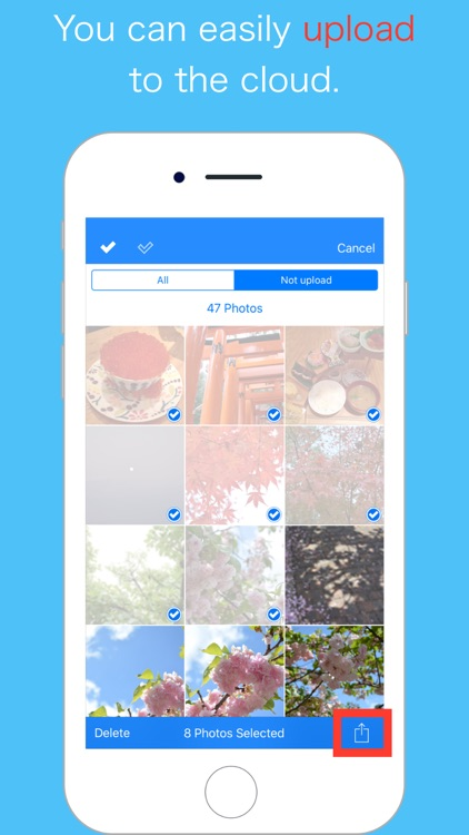 Upload photos to the cloud and Delete -WarpPoint- screenshot-0