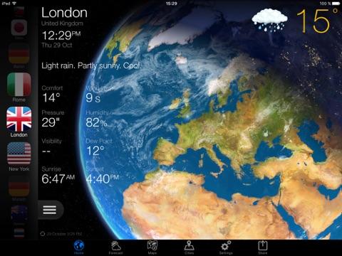 Скриншот из Weather Now Forecast for iPad