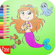 Activities of Games Princess Mermaid Coloring Book Art Pad:Easy painting for little kids