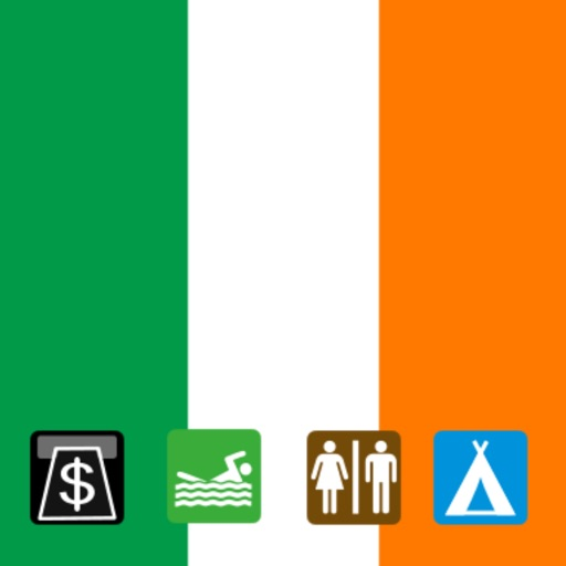 Leisuremap Ireland, Camping, Golf, Swimming, Car parks, and more