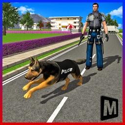 Cop Dog Sniffing Simulator
