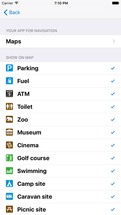 Leisuremap Ireland, Camping, Golf, Swimming, Car parks, and more screenshot-4