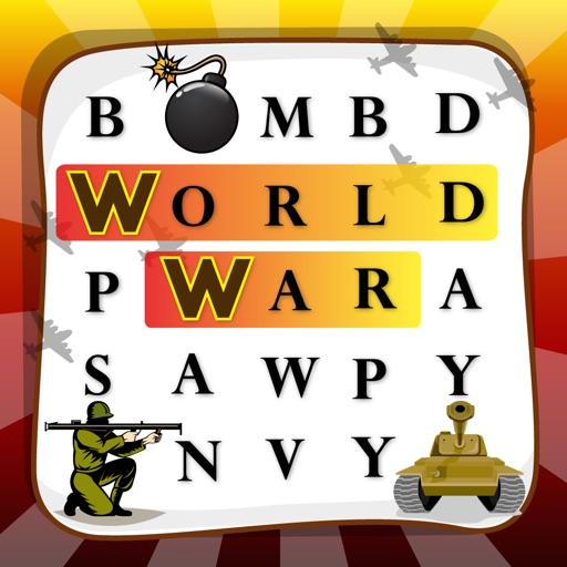 "Word Finder  World War "" History Puzzle Game """