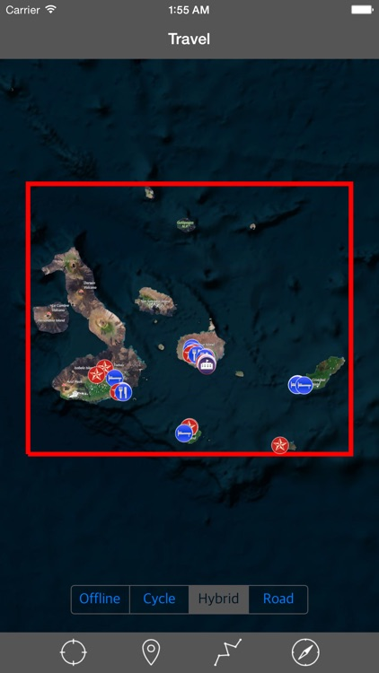 GALAPAGOS ISLANDS – GPS Travel Map Offline Navigator