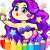 princess mermaid coloring pages free for girl kids