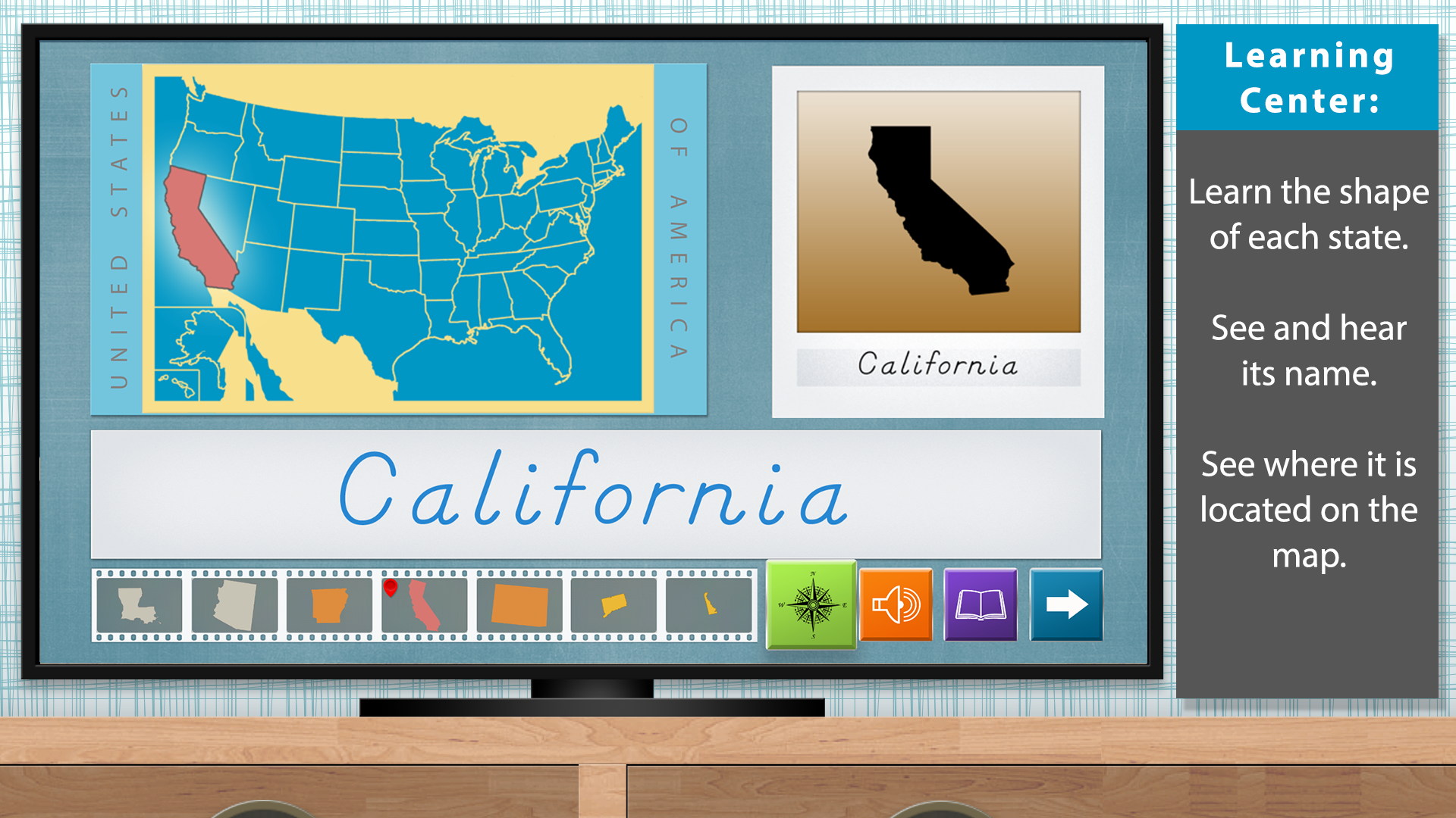 The United States of America - Geography by Mobile Montessori screenshot 1