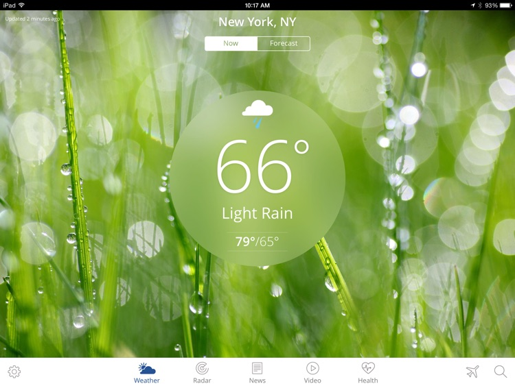The Weather Channel App for iPad – best local forecast, radar map, and storm tracking screenshot-0