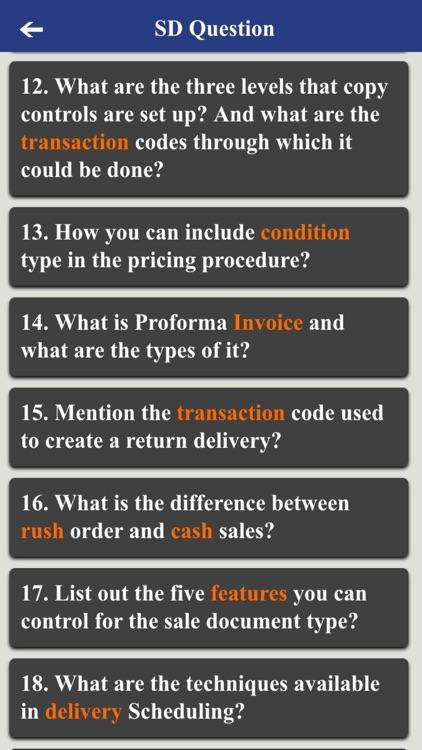 SAP Advance Interview Questions screenshot-3