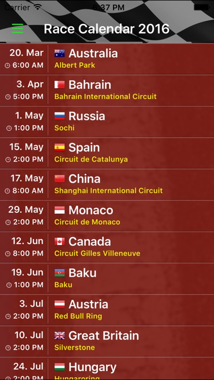 Race Calendar 2016 screenshot-2