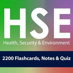 EHS,  Environment, Health & Security (HSE): 2200 Flashcards, Notes & Quiz