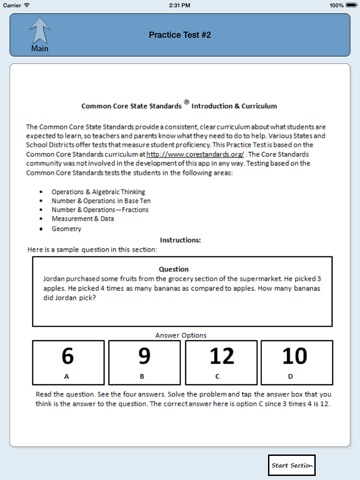 Common Core State Standards Grade 6 Math Practice Test App Price