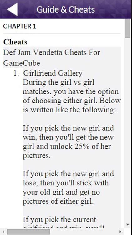 PRO - Def Jam Vendetta Game Version Guide