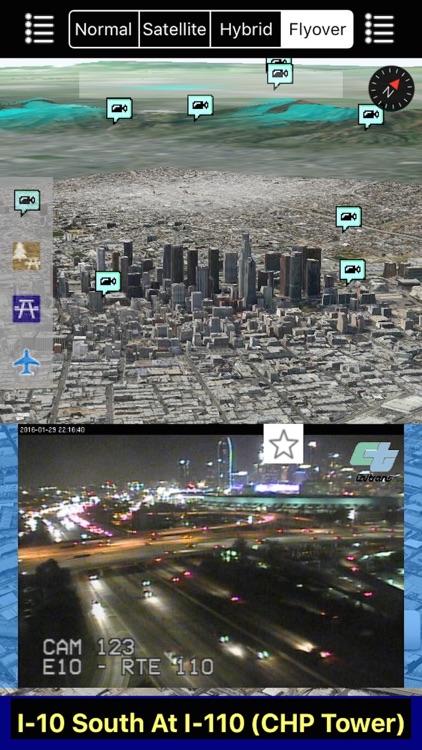 California NOAA Radar and Traffic Camera 3D screenshot-3