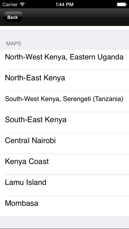 Kenya. Tourist map screenshot-1