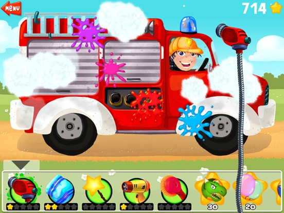 Amazing Car and Truck Wash - The free funny cars cleaning game for little kids and toddlers lite-ipad-0