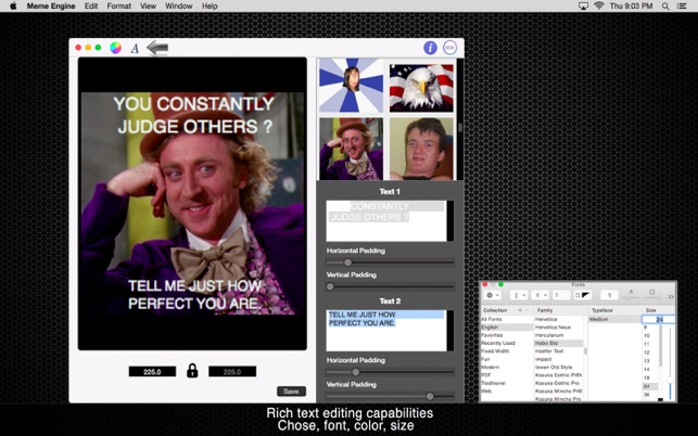 643x0w meme engine create your own memes on the mac app store