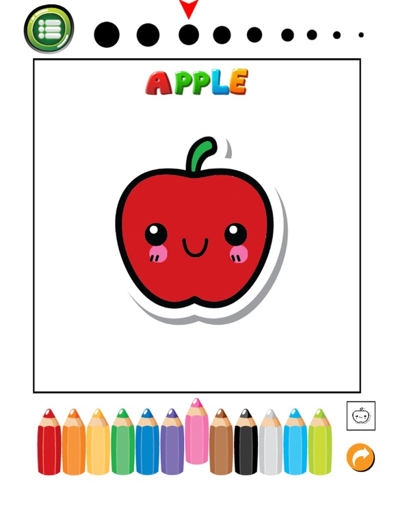 Screenshot 2 For Fruits And Vegetables Phonics Coloring Book English Vocabulary Learning Free