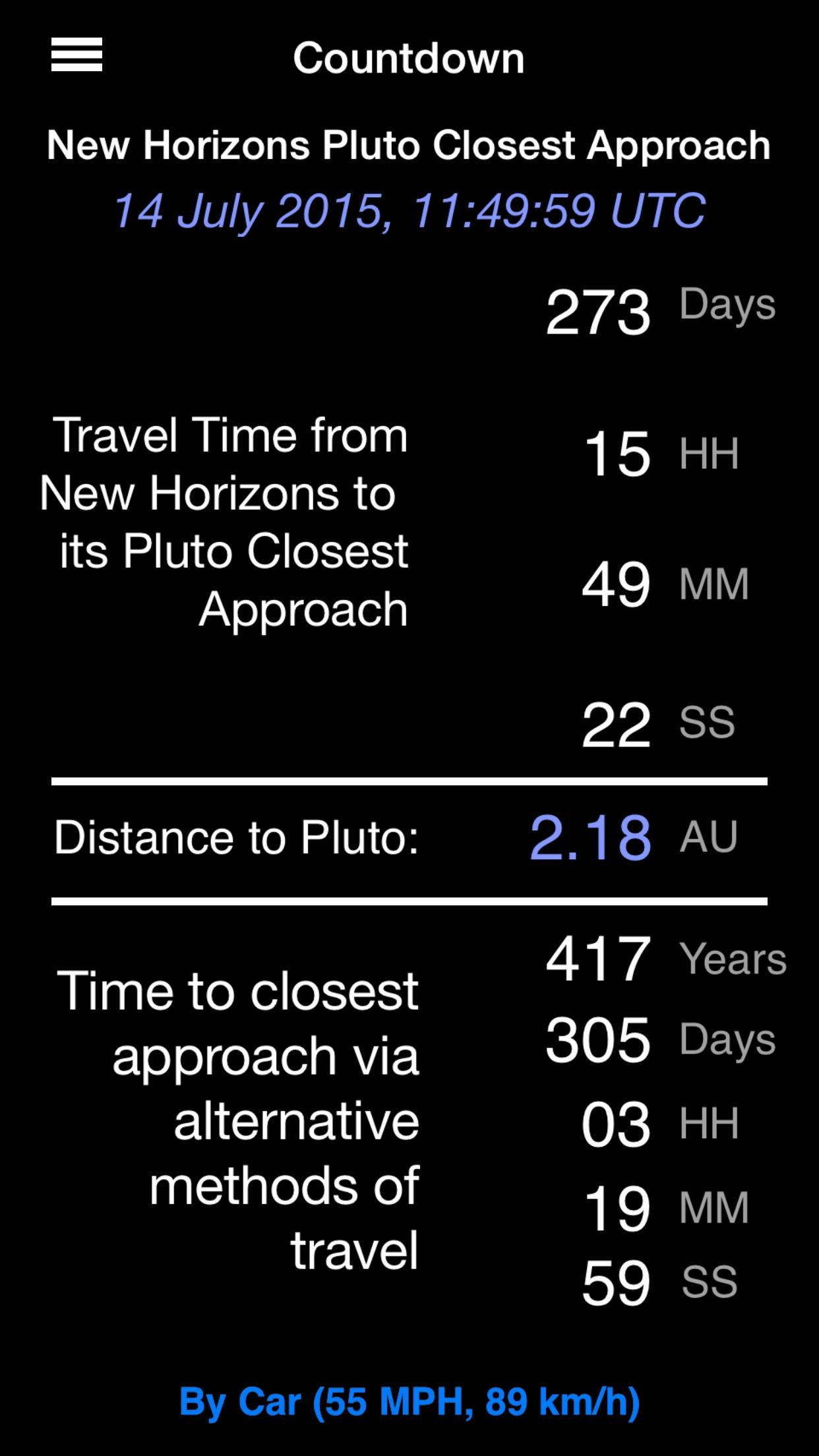 Screenshot do app New Horizons: a NASA Voyage to Pluto