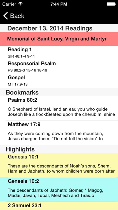 Catholic New American Bible Re review screenshots
