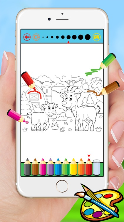 Farm & Animals coloring book - drawing free game for kids screenshot-3
