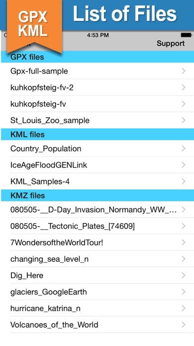 GPX KML KMZ Viewer and Converter on gps map Screenshot