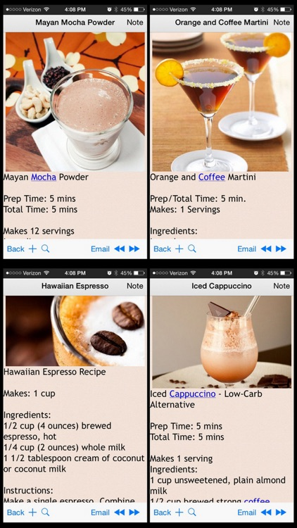 Coffee Recipes Plus+ screenshot-3