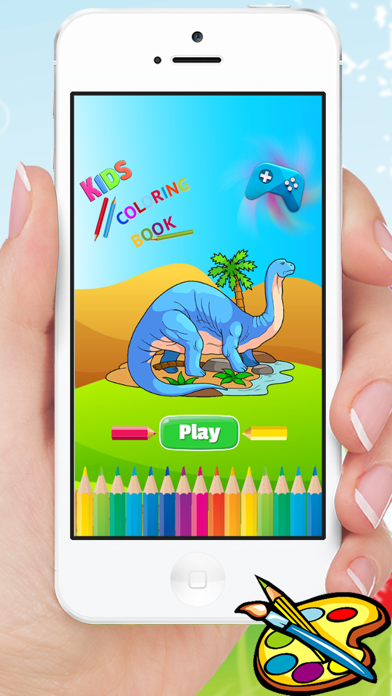Dinosaur Coloring Book HD - Paint Colorful Dinos for Kids