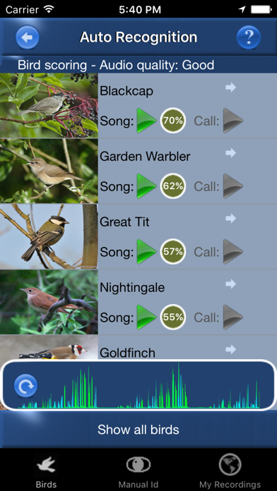 Bird Song Id Automatic Recognition & Reference - Birds of the British Isles screenshot one