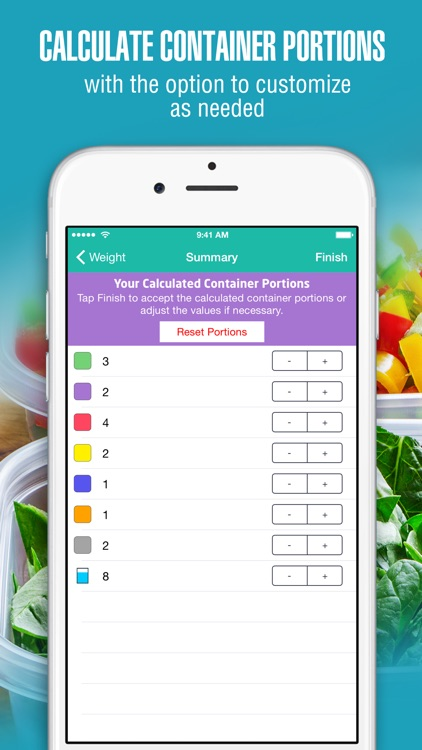 21 Day Container Tracker™ - Exercise, Diet, Weight, and Body Measurement Fix screenshot-3