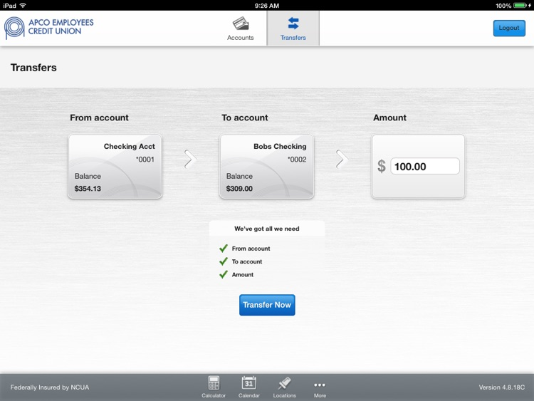 APCO Employees CU for iPad screenshot-3