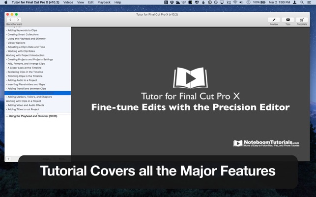 ‎Tutor for Final Cut Pro