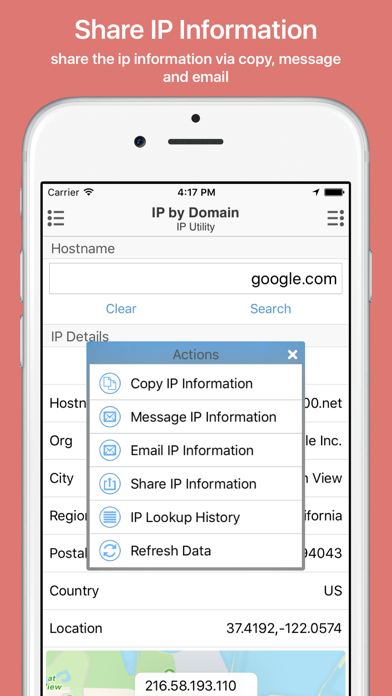 IP Utility: Track & Share IP Address Screenshot
