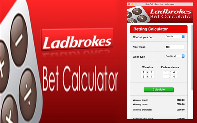 Bet calculator for ladbrokes on the mac app store.