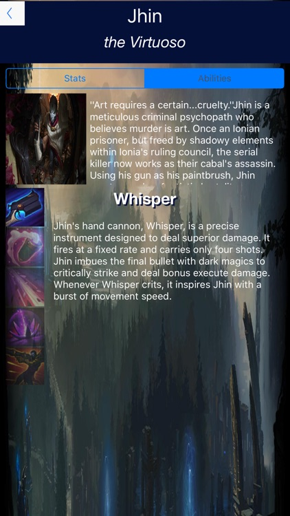 Stats and Lore -For League of Legends