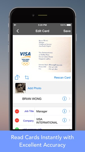 Cardwiz pro business card reader scanner on the app store reheart Gallery