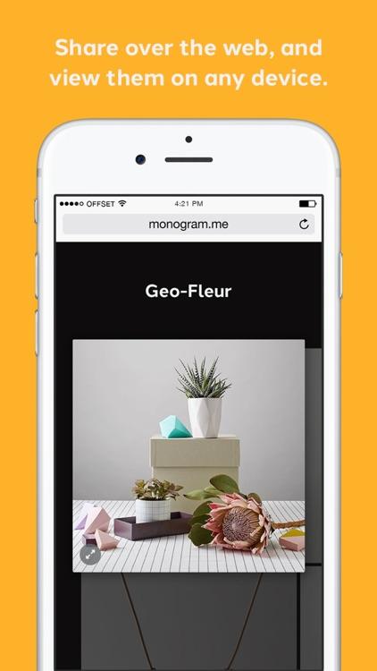 Monogram – Share what you do beautifully – by Moo screenshot-4