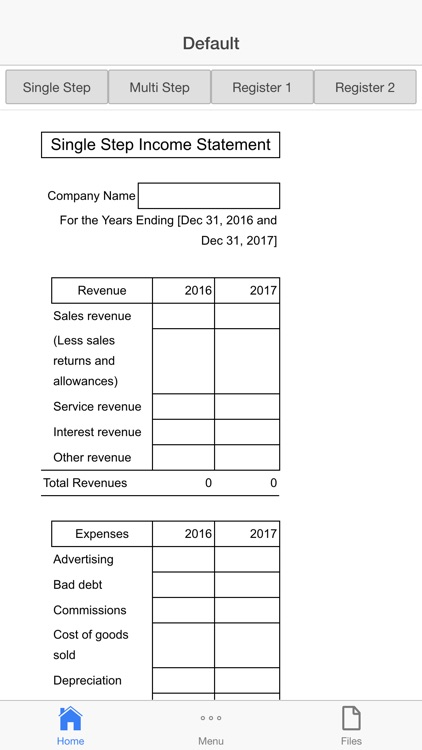 Income Statement screenshot-1