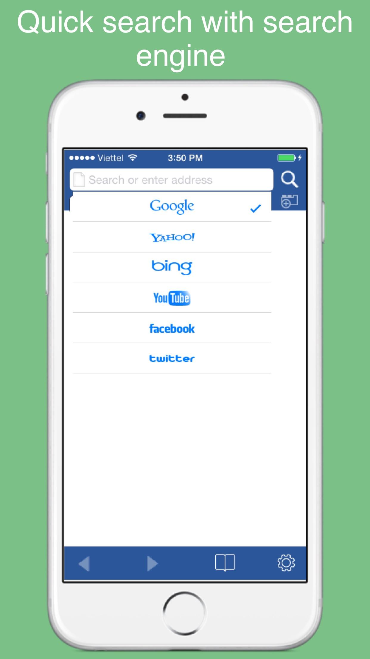 Fast Browser - Safe web Browser, Surf web Fast and safely Screenshot