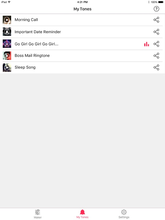Ringtone Maker Free – create ringtones with your music screenshot