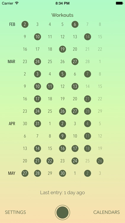 Dayly Calendar: a radically simple calendar for tracking activities and events