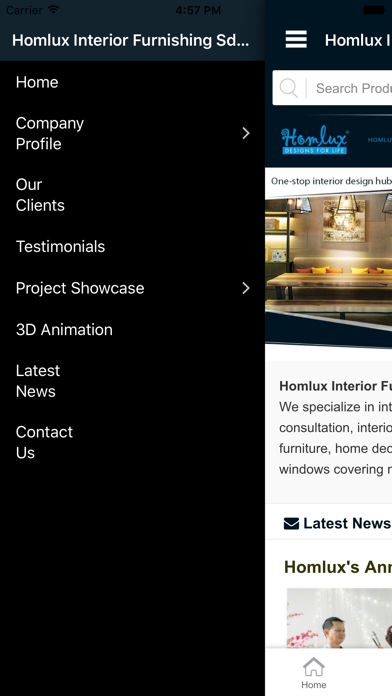 Homlux screenshot two