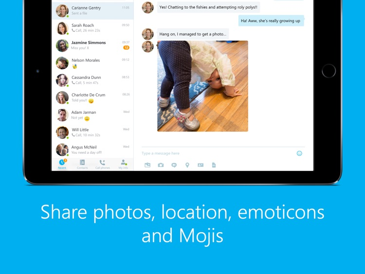 Skype for iPad screenshot-1