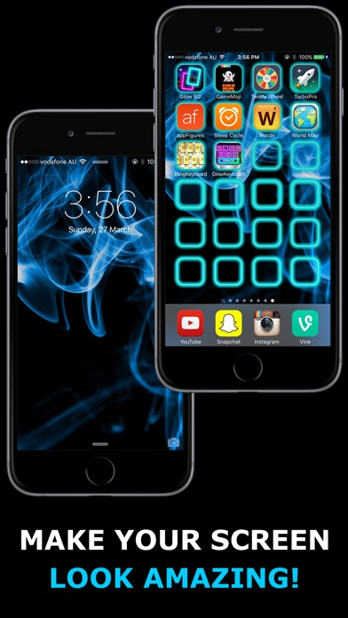 Glow Backgrounds - Customize your Home Screen Wallpaper Screenshot 1