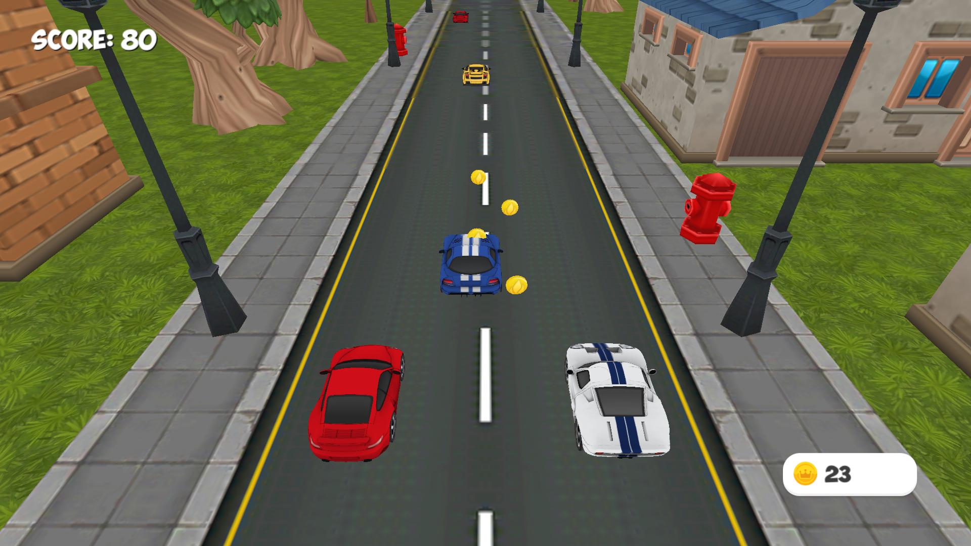 Racer Cars 3D for TV screenshot 2
