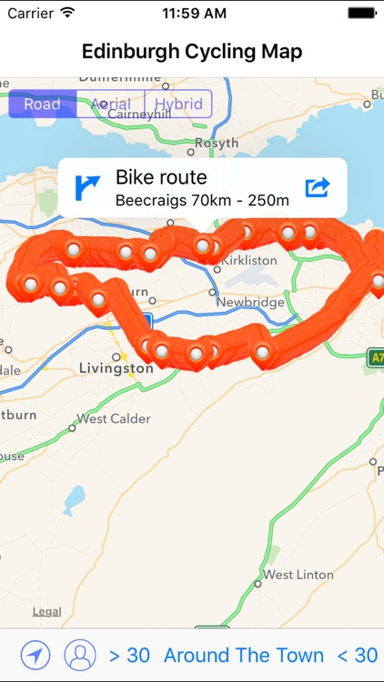Edinburgh Cycling Map