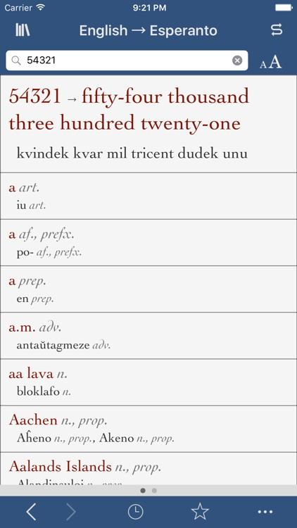 Esperanto-English Translation Dictionary